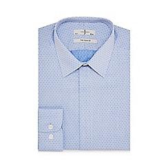 J by Jasper Conran - Big and tall blue dotted slim fit shirt