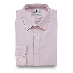 J by Jasper Conran - Big and tall pink twill slim fit shirt
