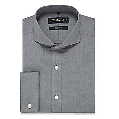 Hammond & Co. by Patrick Grant - Navy chambray slim fit shirt