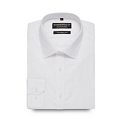 Hammond & Co. by Patrick Grant - White spotted tailored fit shirt