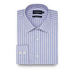 Osborne - Blue and pink striped tailored fit shirt