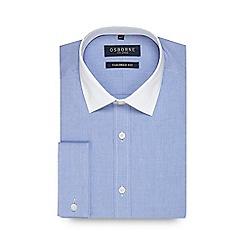 Osborne - Big and tall blue twill tailored fit shirt