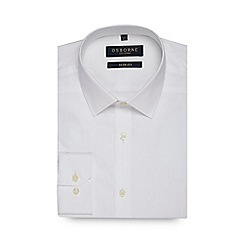 Osborne - White textured slim fit shirt