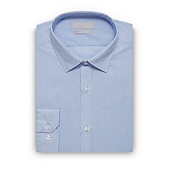 Red Herring - Light blue striped dobby slim fit shirt