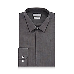 Red Herring - Grey contrast slim fit shirt