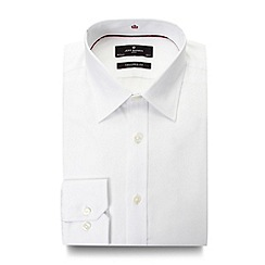 Jeff Banks - Big and tall designer white twill travel shirt