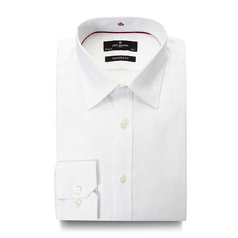 Jeff Banks - Designer white twill travel shirt