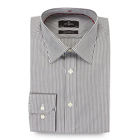 Jeff Banks - Designer black double stripe tailored fit shirt