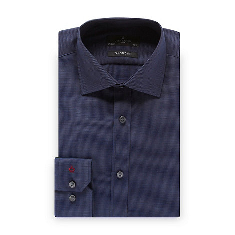 Jeff Banks - Designer dark blue dotted tailored fit shirt