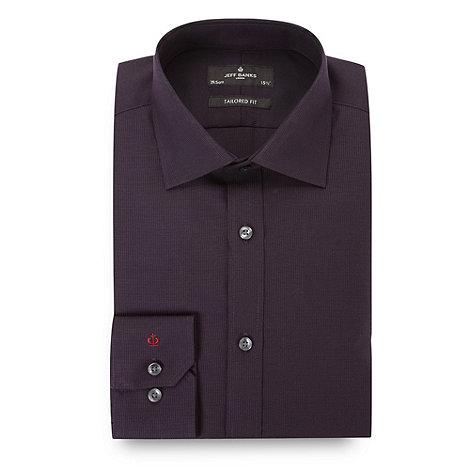Jeff Banks - Designer dark purple textured tailored shirt