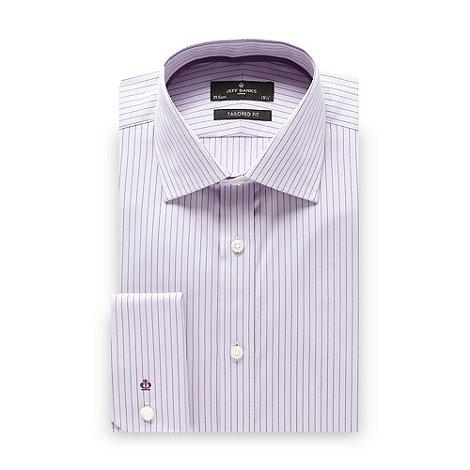 Jeff Banks - Designer lilac chevron striped tailored fit shirt