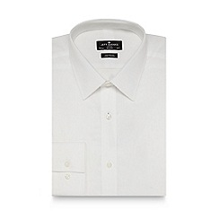 Jeff Banks - Big and tall designer white regular fit cotton shirt