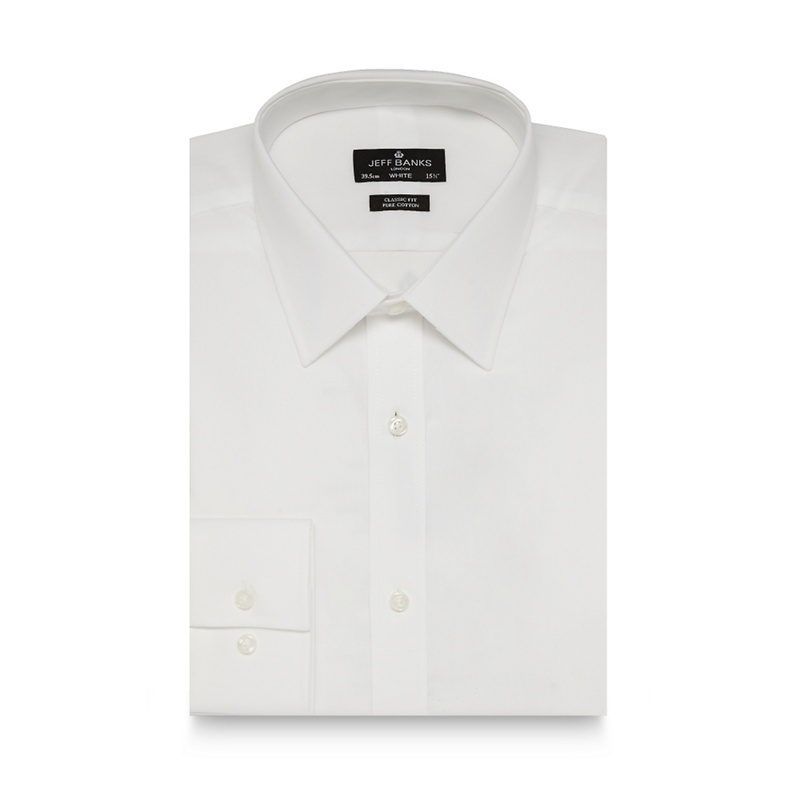 Jeff Banks Designer white regular fit cotton shirt