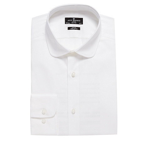 Jeff Banks - Designer white penny collar slim fit shirt
