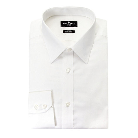 Jeff Banks - Designer white plain slim fit shirt