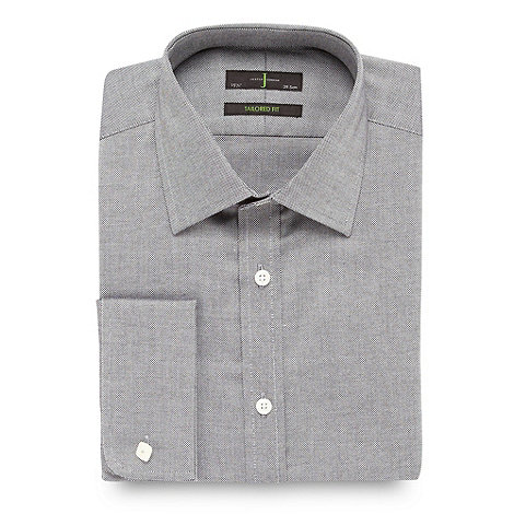 J by Jasper Conran - Designer light grey textured shirt