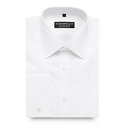 Hammond & Co. by Patrick Grant - Big and tall designer white fine twill tailored fit shirt