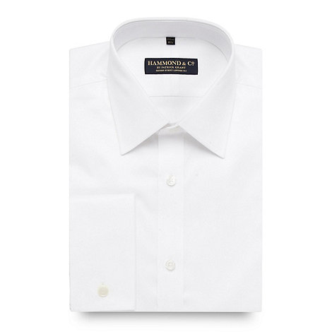 Hammond & Co. by Patrick Grant - Designer white fine twill tailored fit shirt