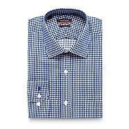 Pierre Cardin - Dark blue gingham tailored shirt