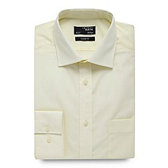 Thomas Nash - Big and tall light yellow plain regular fit shirt