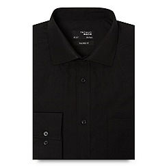 Thomas Nash - Big and tall black plain tailored fit shirt