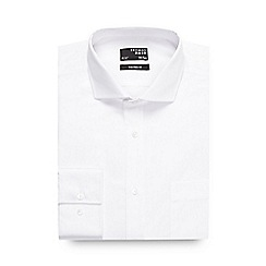 Thomas Nash - Big and tall white plain tailored long sleeved shirt