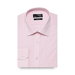 Thomas Nash - Big and tall light pink plain regular fit shirt