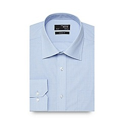 Thomas Nash - Light blue plain regular fit shirt