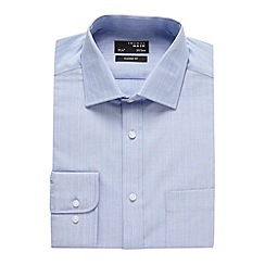 Thomas Nash - Blue fine striped regular fit shirt