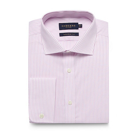 Osborne - Pink bengal striped tailored fit shirt