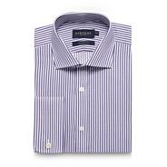 Big and tall purple bengal striped regular fit shirt