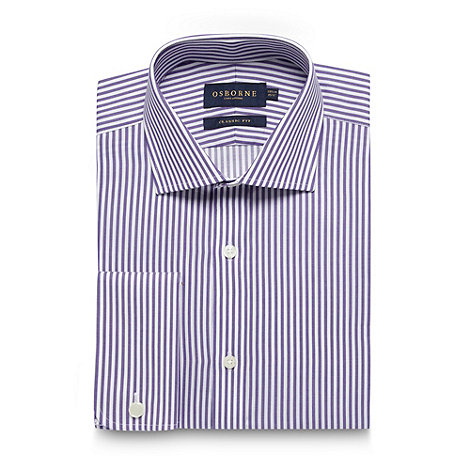 Osborne - Purple bengal striped regular fit shirt