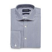 Big and tall navy bengal striped regular fit shirt
