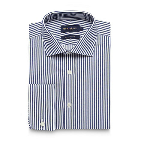 Osborne - Navy bengal striped regular fit shirt