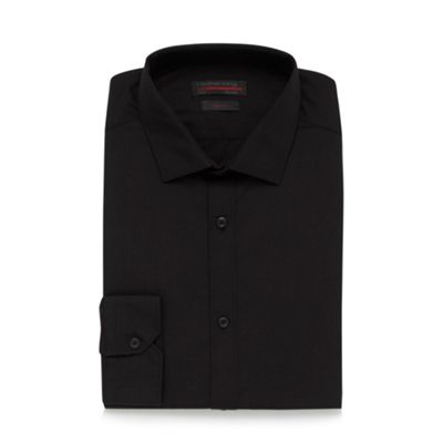 Black Long Sleeved Poplin Shirt