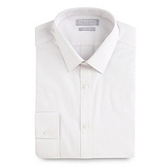 Red Herring - White long sleeved poplin Slim fit button cuffed shirt