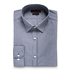 Red Herring - Dark blue mini gingham slim fit shirt