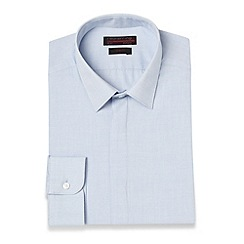 Red Herring - Light blue textured slim fit shirt