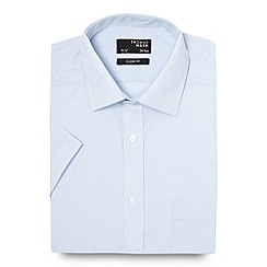 Thomas Nash - Big and tall light blue fine striped regular fit shirt