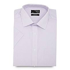 Thomas Nash - Big and tall light pink fine striped regular fit shirt