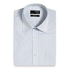 Thomas Nash - Light blue grid checked regular fit shirt