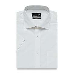 Thomas Nash - White textured check regular fit shirt