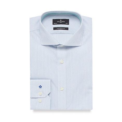 Jeff Banks - Designer green fine stripe tailored fit shirt