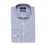 Big and tall blue butchers striped tailored fit shirt