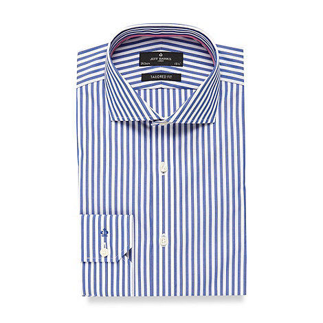 Jeff Banks - Blue butchers striped tailored fit shirt