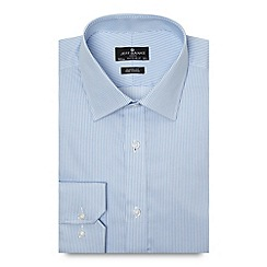 Jeff Banks - Big and tall designer light blue twill striped regular fit shirt