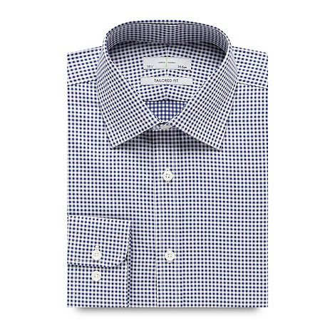 J by Jasper Conran - Designer navy textured gingham tailored shirt