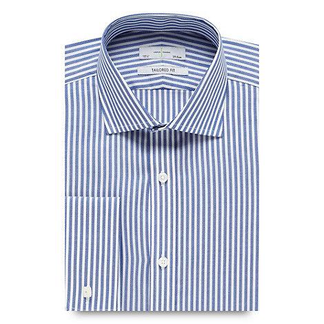 J by Jasper Conran - Designer blue textured striped tailored shirt