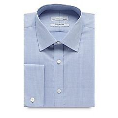 J by Jasper Conran - Big and tall designer pale blue jacquard tailored shirt
