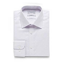 J by Jasper Conran - Big and tall designer lilac zig zag tailored shirt